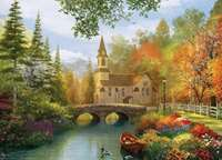 Autumn Church - 1000pc