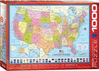 Map of the United States - 1000pc