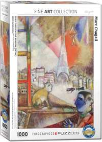 Paris Through The Window - Marc Chagall - 1000pc