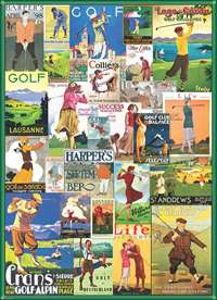 Vintage Golf Collage - 1000pc