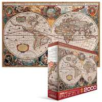 Antique World Map - 2000pc