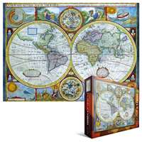 antique map - a new and accurate map of the world