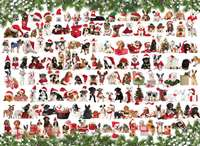 Christmas Puppies - 1000pc