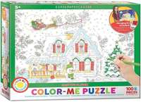 Santas Sleigh - Colour-Me Puzzle - 100pc