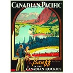 Baniff in the Rockies - Vintage Poster - 1000pc