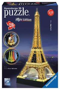 Eiffel Tower at Night - 3D