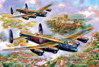 Lancasters over Lincoln - 500pc