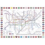 TFL London Underground Map - Gift Box - 500pc