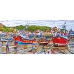 Seagulls at Staithes - 636pc
