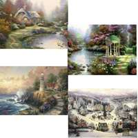 kinkade - painter of light - 4 x 500 piece