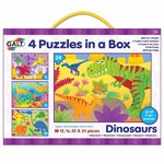Dinosaurs - 4 puzzles in 1 - 12, 16, 20 and 24pc