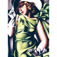 Young Girl in Green - Tamara De Lempika