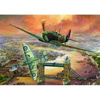 Spitfire Over London - 1000pc