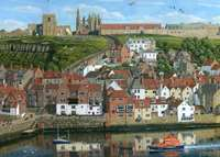 Around Britain Whitby Harbour - 1000pc
