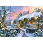 The Whitesmyths Cottage in Winter - 1000pc