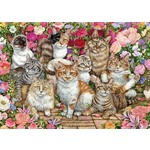 Floral Cats - 1000pc