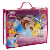 disney princess � puzzle and colour