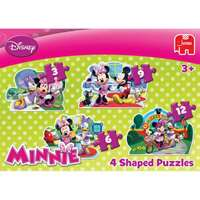 Minnie Mouse - 4 in 1 Shaped Puzzles