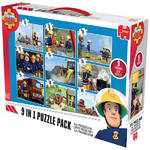 Jumbo - Fireman Sam - 9 in 1 Puzzle Pack