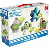 Disney Monster University 4 in 1 Shaped Puzzle
