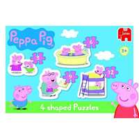 Peppa Pig - 4 in a box - Shaped Puzzles