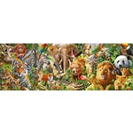 African Wildlife - Panoramic - 1000pc