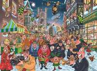 Wasgij Christmas 12 - The Big Turn On - 1000pc Includes Free