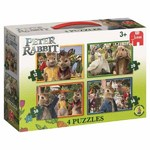 Peter Rabbit - 4 in 1 Shaped Puzzles