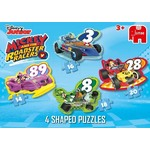 Mickey Mouse - 4 in 1 Shaped Puzzles
