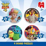 Toy Story 4 Round Puzzles - 4 in 1