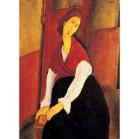 Jeanne Hebuterne In Red Shawl - Clemente