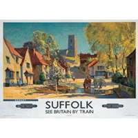 kersey suffolk - railway posters
