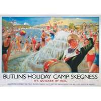 butlins skegness - railway posters