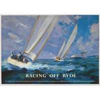 racing off ryde - railway posters