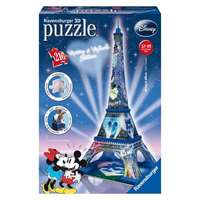 Mickey And Minnie Eiffel Tower - 3D Puzzle Building