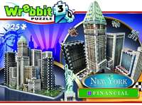 New York City - Financial District - 3D Puzzle