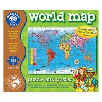 World Map - With Free Poster - 150pc