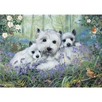 Westies in the Wood - 1000pc