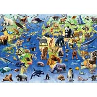 Endangered Animals - 1000pc