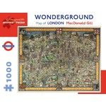 Wonderground Map of London - 1000pc