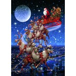 Santas Flying Sleigh - 1000pc