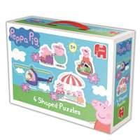 Peppa Pig - 4 in 1 Shaped Puzzles