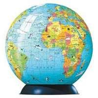 children globe and book puzzleball