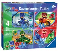 PJ Masks - 4 puzzles in 1