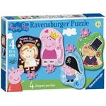 Peppa Pig - 4 in 1 Shaped Puzzles - 4, 6, 8 and 10pc