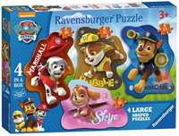 Paw Patrol - 4 Shaped Puzzles