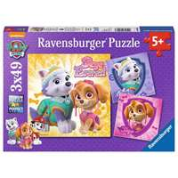 Paw Patrol - Skye and Everest - 3 x 49pc