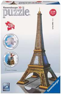 eiffel tower - 3d puzzle building