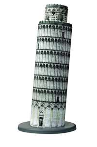 leaning tower of piza building - 3d puzzle building