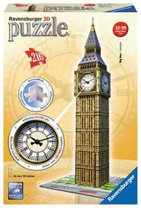 Big Ben - 3D Puzzle with Clock - 216pc
